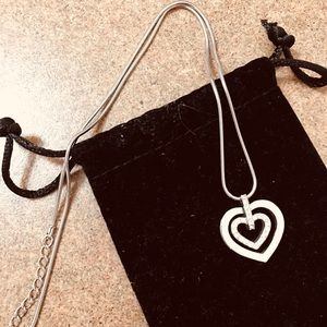 Swarovski heart necklace 16inch Silver
